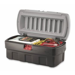 48-Gallon Black Action Packer Cargo Box