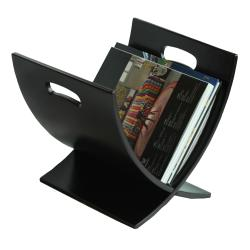 Oceanstar Contemporary Espresso Wooden Magazine Rack - Thumbnail 1