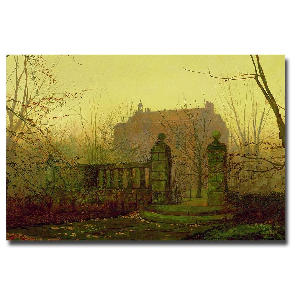 John Atkinson Grimshaw \'Autumn Morning\' Large Canvas Art - Free ...