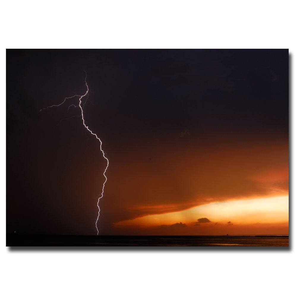 Kurt Shaffer 'Lightning Sunset I' Canvas Art