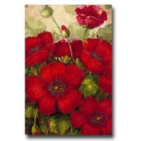 Rio 'Poppies II' Floral Canvas Art - Red