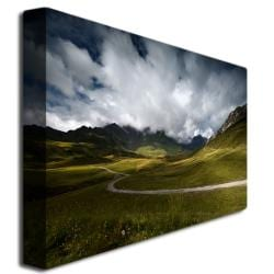 Philippe Sainte-Laudy 'Dark Green' Canvas Art - Thumbnail 1