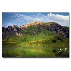 Philippe Sainte-Laudy 'Green Mirror' Canvas Art