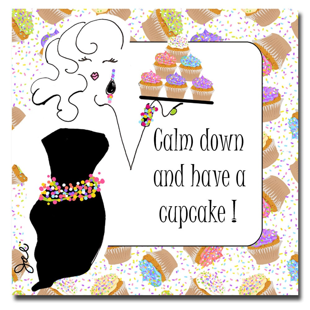 Working Girls Design 'Have a Cupcake' Canvas Art