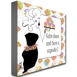Working Girls Design 'Have a Cupcake' Canvas Art - Thumbnail 1