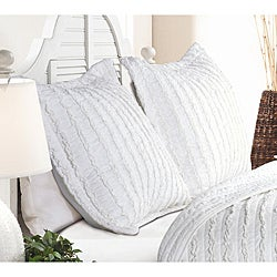 Greenland Home Fashions Ruffled White Quilted Shams (Set of 2)