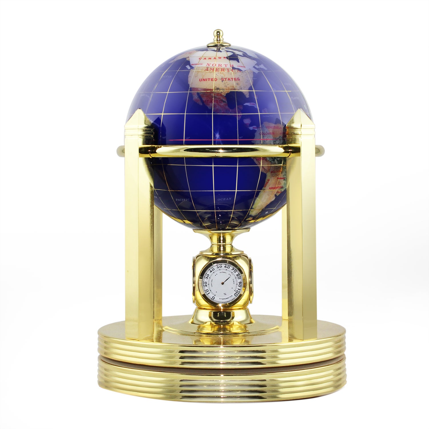 Allure by Jay Desk globe w/gold clock stand