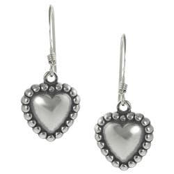 Journee Collection Sterling Silver Children's Heart Dangle Earrings