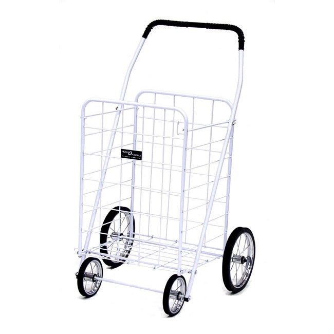 Jumbo White Shopping Cart