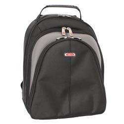 Azona Deluxe Black Ballistic Nylon 15.4-inch Laptop Backpack