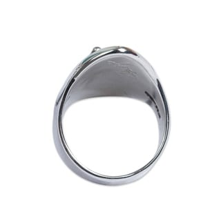 Handmade Sterling Silver Honey Sea Amber Cocktail Ring Mexico