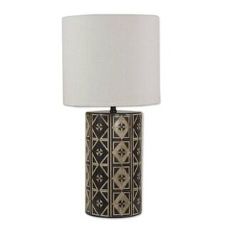 Handmade Ceramic 'Queen of Diamonds' Table Lamp (Mexico)