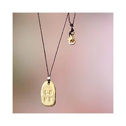 Gold Overlay 'Love' Necklace (Indonesia)