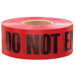 Empire Level Red and Black Do-Not-Enter Tape