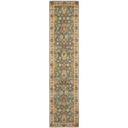 Safavieh Handmade Jaipur Blue/ Beige Wool Runner (2'3 x 10')