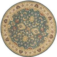 Safavieh Handmade Jaipur Blue/ Beige Wool Rug - 8' x 8' Round
