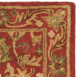 Safavieh Handmade Heirloom Red Wool Rug (2' x 3') - Thumbnail 1