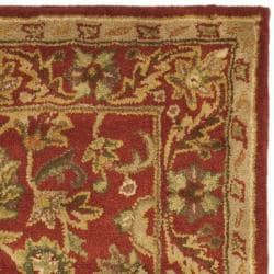 Safavieh Handmade Heirloom Red Wool Rug (4' x 6')