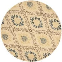 Safavieh Handmade Traditions Beige Wool Rug (6' Round)