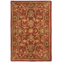 Safavieh Handmade Heirloom Red Wool Rug - 2' x 3'