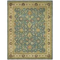 Safavieh Handmade Jaipur Blue/ Beige Wool Rug - 6' x 9'