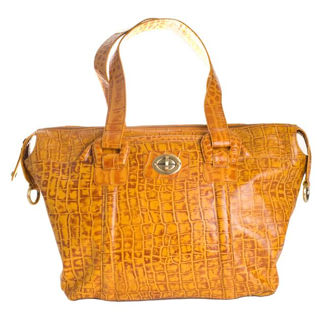 Michael Rome Croc-embossed Large Satchel