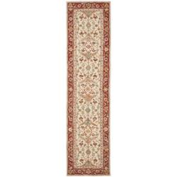 Safavieh Hand-hooked Tabriz Ivory/ Red Wool Runner (2'6 x 10')