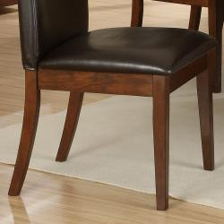 Lancaster Dark Brown Faux Leather Upholstered Dining Chair (Set of 2) - Thumbnail 2