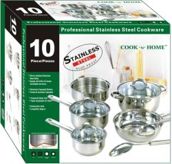 Cook N Home Stainless Steel 10-piece Cookware Set - Thumbnail 1