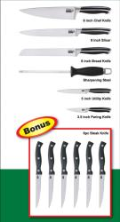Cook N Home 7-piece Professional Cutlery Set with 6 Free Steak Knives - Thumbnail 1