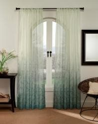 Vine Ombre 95 Inch Sheer Curtain Panel Free Shipping On