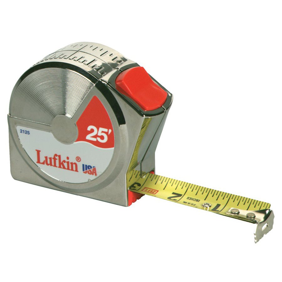 Cooper Hand Tools 12-Foot Power Return Tape Measure with Steel Blade