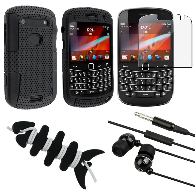 INSTEN Hybrid Phone Case Cover/ Screen Protector/ Headset/ Wrap for Blackberry Bold 9900