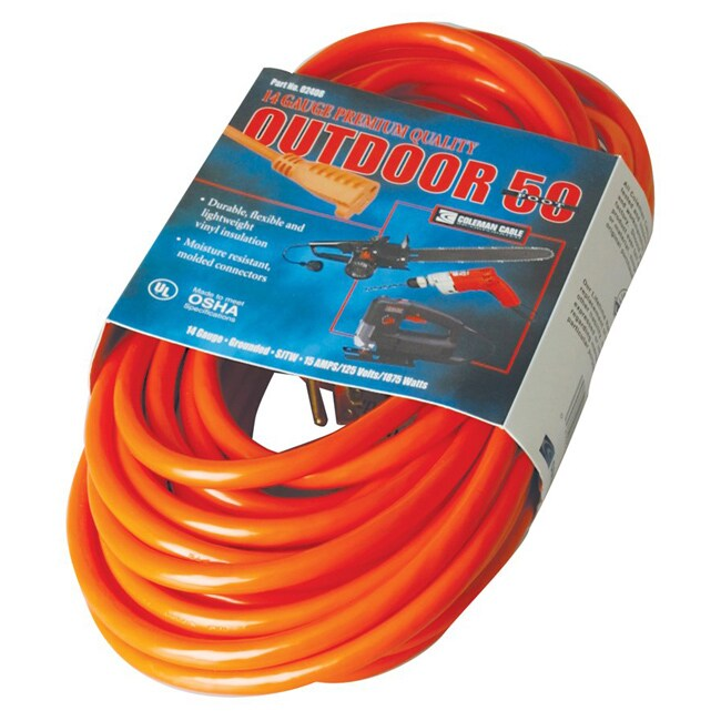 Coleman Cable Red Extension Cord (50-Foot)