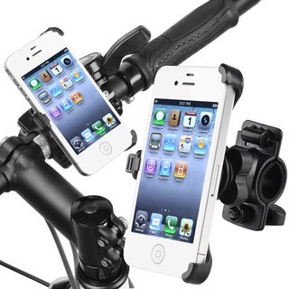 INSTEN Black Bicycle Phone Holder for Apple iPhone 4 AT&T/ Verizon