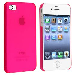 INSTEN Clear Pink Snap-on Slim-fit Phone Case Cover for Apple iPhone 4/ 4S - Thumbnail 1
