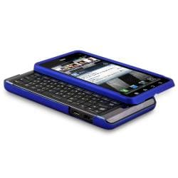 INSTEN Blue Snap-on Rubber Coated Phone Case Cover for Motorola Droid 3 XT862 - Thumbnail 1