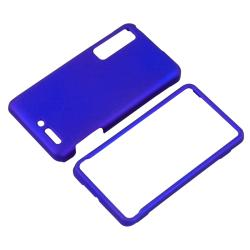 INSTEN Blue Snap-on Rubber Coated Phone Case Cover for Motorola Droid 3 XT862 - Thumbnail 2