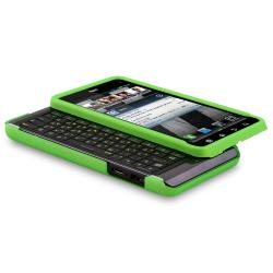 Green Snap-on Rubber Coated Case for Motorola Droid 3 XT862 - Thumbnail 1
