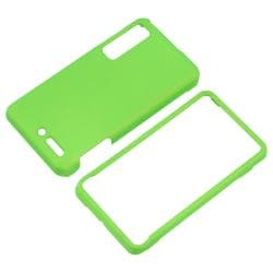 Green Snap-on Rubber Coated Case for Motorola Droid 3 XT862 - Thumbnail 2