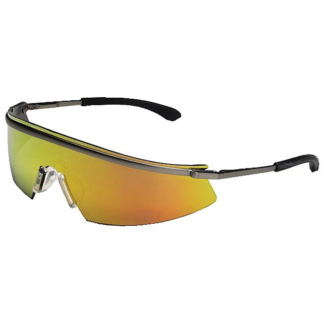 Crews Triwear Metal Fire Lens Safety Glasses