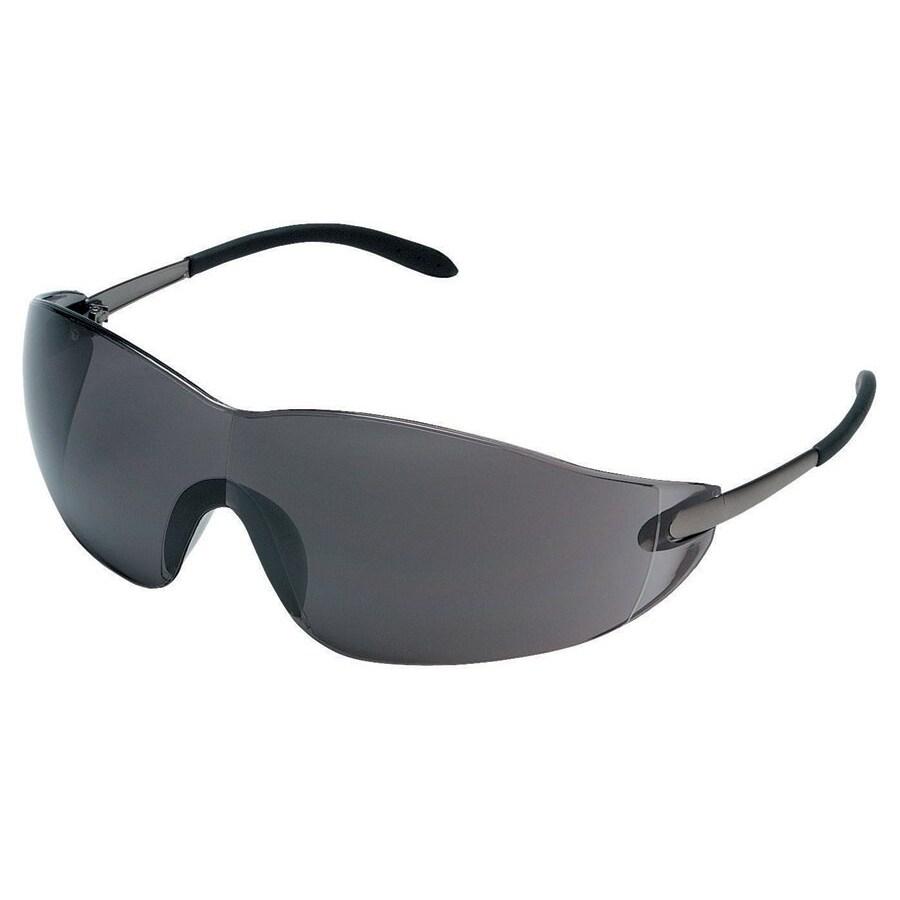 Crews Blackjack Grey-Lens Safety Glasses