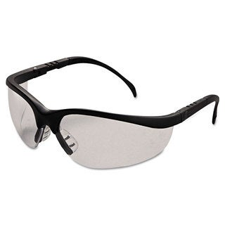 Crews Klondike Safety Glasses Matte Black Frame Clear Lens