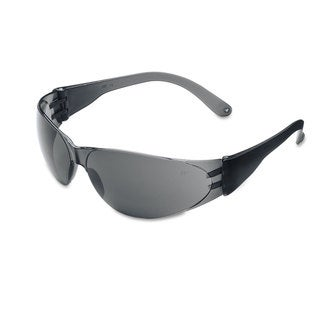 Crews Checklite Scratch-Resistant Safety Glasses Grey Lens