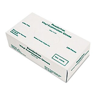 Large 5-Mil. Disposable Vinyl Grey Medical Gloves