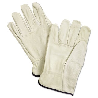 Unlined Pigskin Driver Gloves, Cream, X-Large, 12 Pair