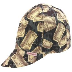 Comeaux Caps Grey Dollar Bills Round Crown Cap (Size 7)
