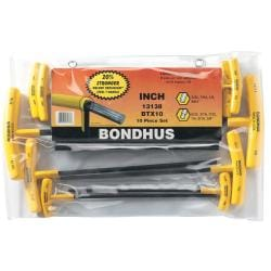 Bondhus 10-Piece Hex Balldriver T-Wrench Set