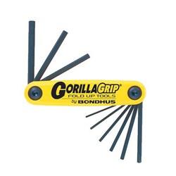Bondhus 'Gorilla Grip' Inch Foldup 9-Tool Set
