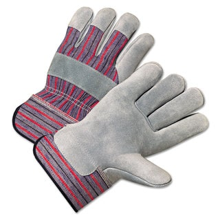 Anchor Brand 2000 Series Leather Palm Gloves Grey/Red (Box of 12)